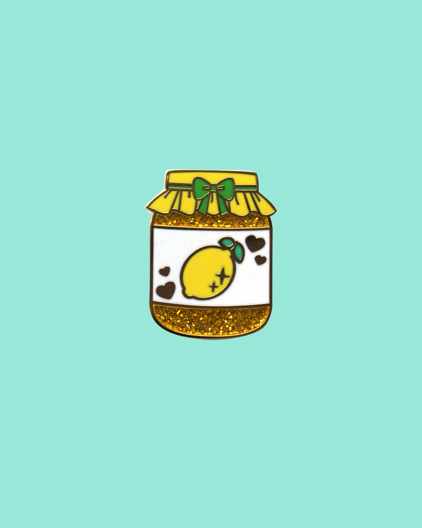 Lemon Curd - Precious Preserves Series 2 Hard Enamel Glitter Pin
