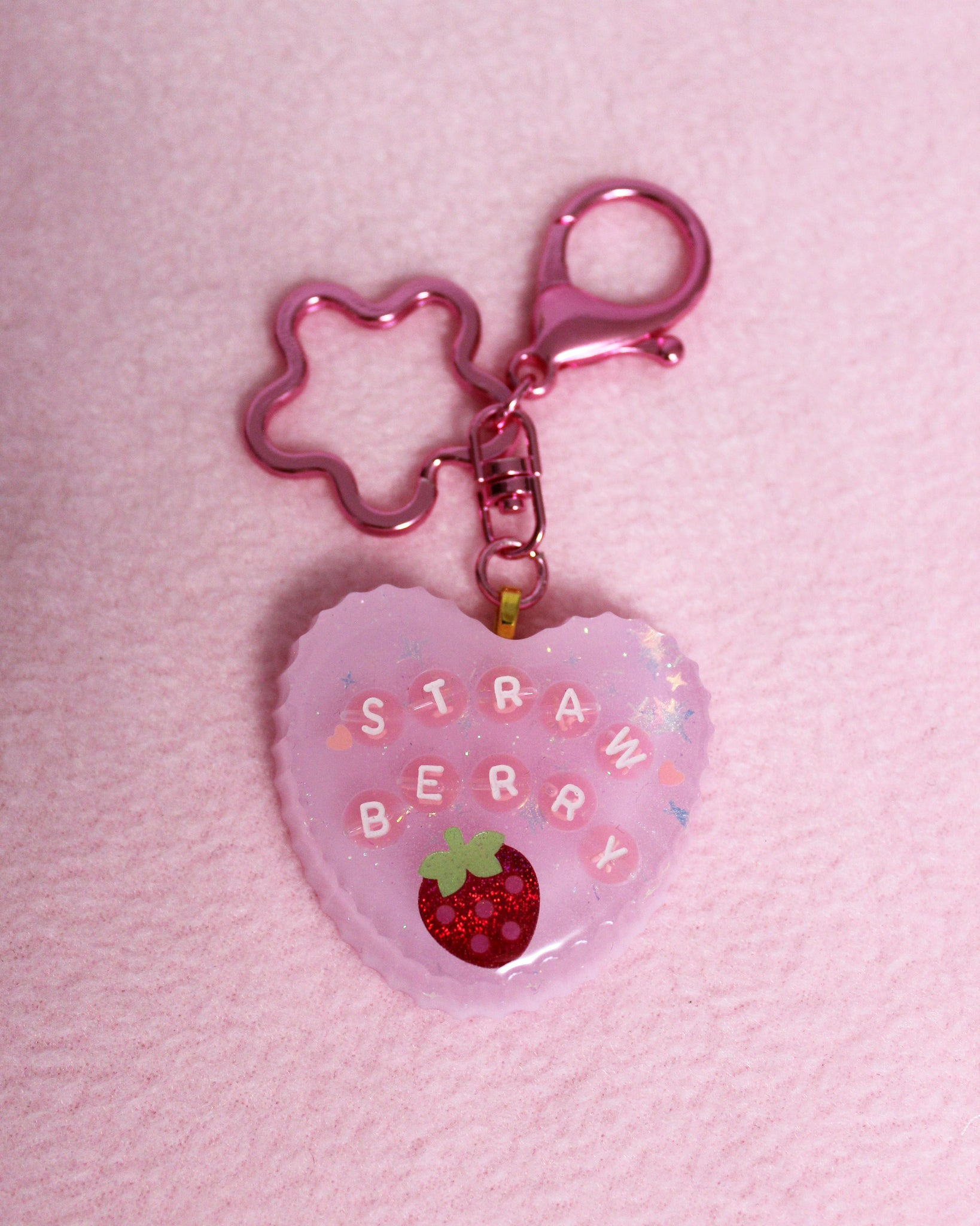 Strawberry Heart Charm