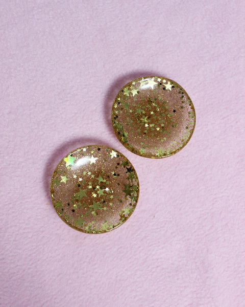 Small Sparkly Trinket Dish - Gold Stars