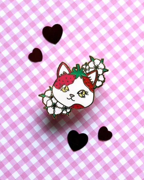 Strawberry Calico - Hard Enamel Pin