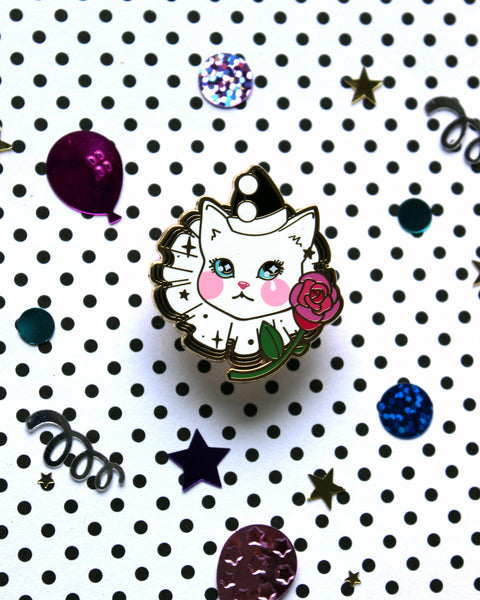 Pawerrot the Clown Cat - Hard Enamel Pin