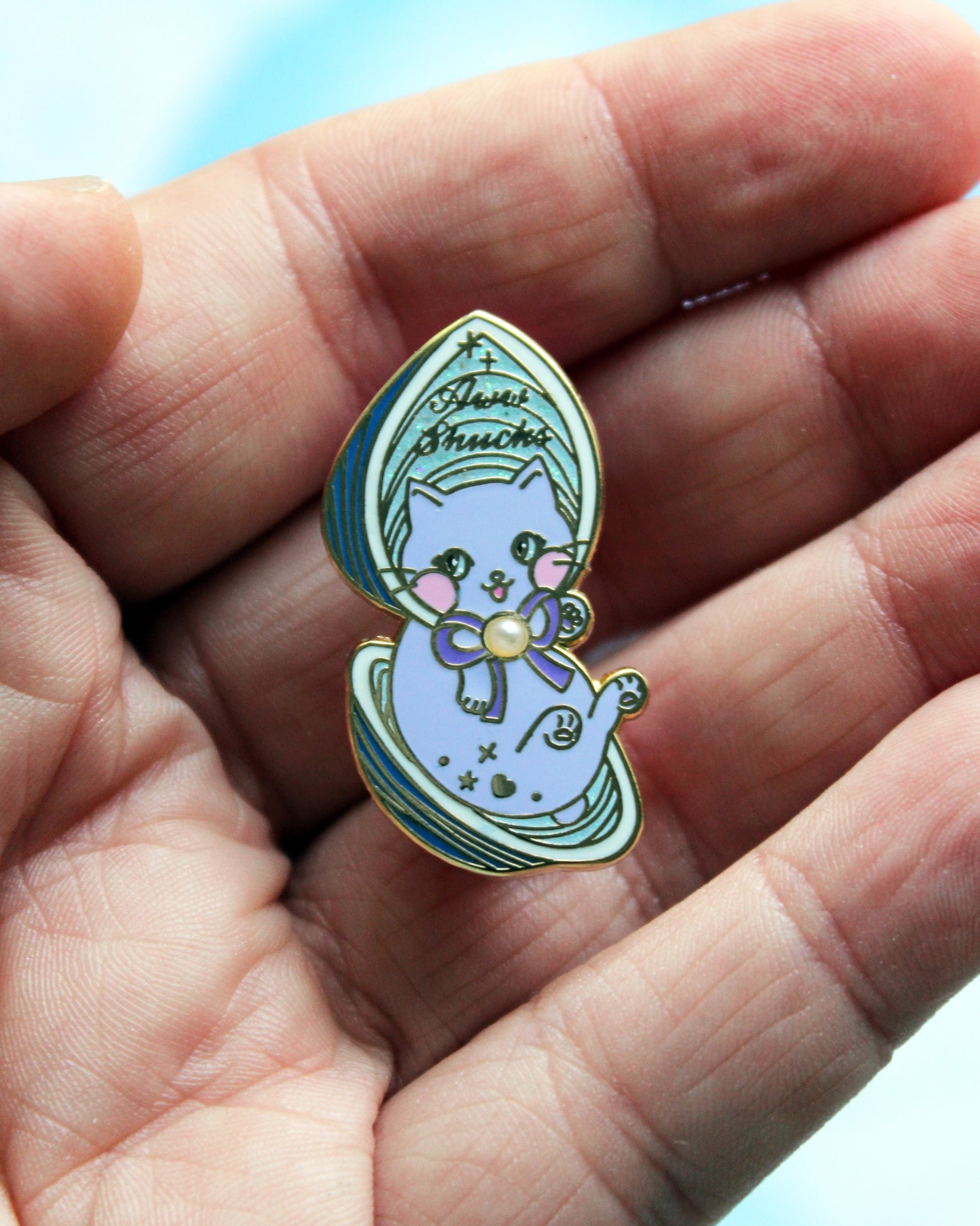 Curious Oyster Baby - Kitties In Wonderland Series Hard Enamel Pin