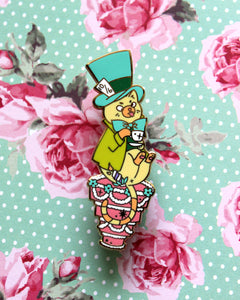 Mad Catter - Kitties In Wonderland Series Hard Enamel Pin