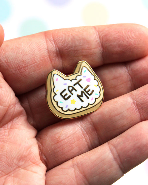 Eat Me Kitty Cookie - Kitties In Wonderland Series Hard Enamel Pin