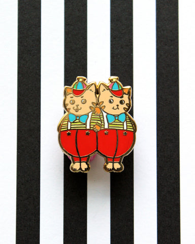Tweedle Dinguses - Kitties In Wonderland Series Hard Enamel Pin