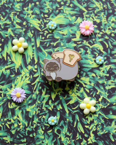 Catloaf and Butter Fly - Kitties In Wonderland Series Hard Enamel Pin