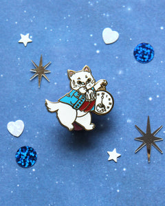 White Cabbit - Kitties In Wonderland Series Hard Enamel Pin
