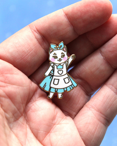 Alice - Kitties In Wonderland Series Hard Enamel Pin