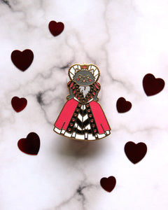 Queen of Hearts - Kitties In Wonderland Series Hard Enamel Pin