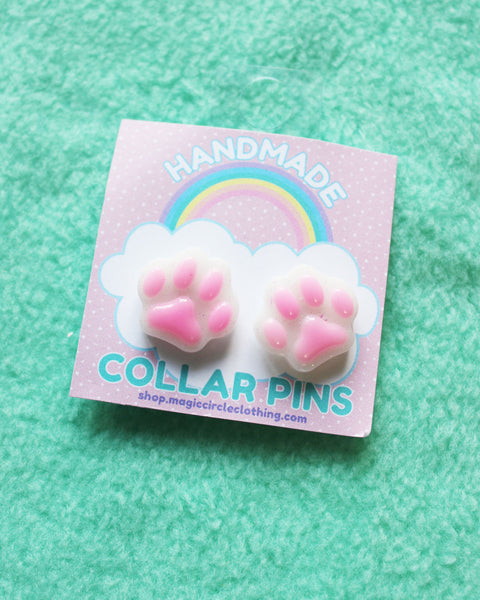 Kitty Paw Collar Pins