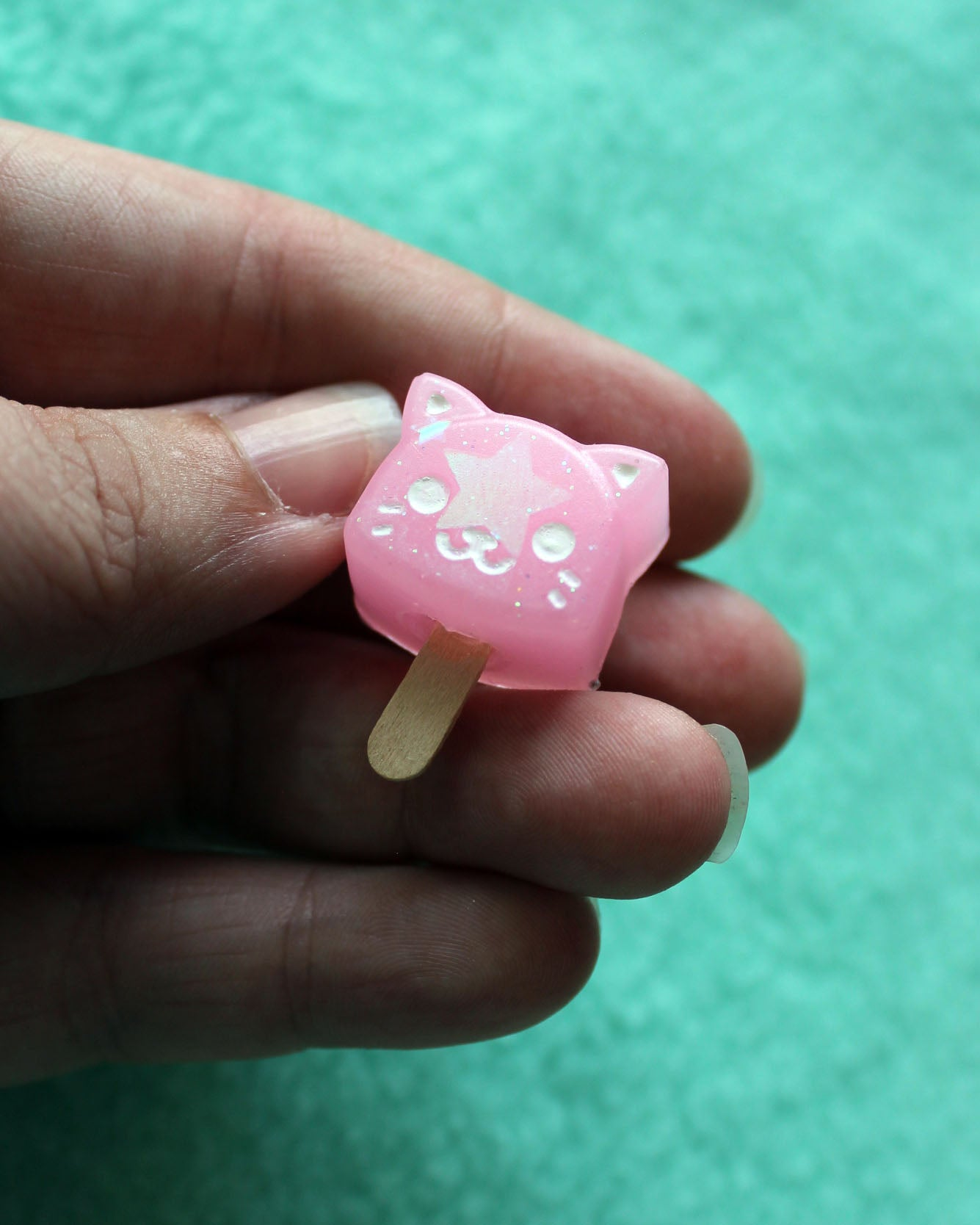 Cat Popsicle Brooch - Resin Pin