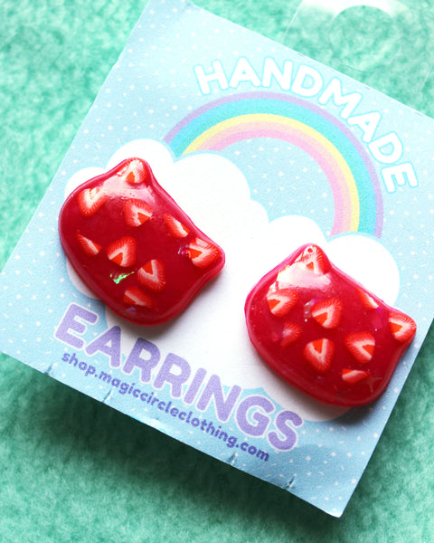 Fruity Cat Head Earrings