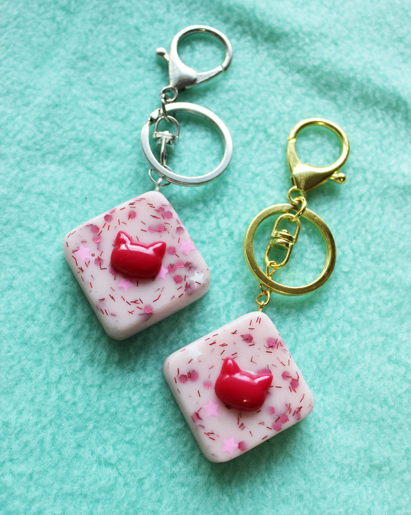 Strawberry Brownie Bites with Cherry Kitties