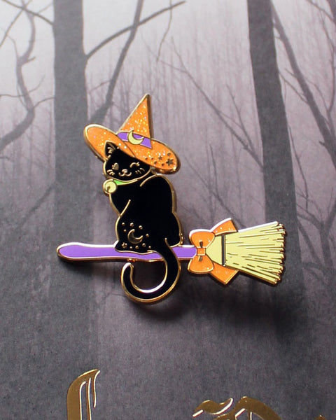 Witch Kitty Hard Enamel Pin - 2 New Limited Edition Colors