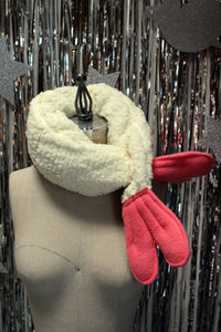 Shrimp Tempura Neck Warmer Scarf - Soft Minky Cuddle Scarf