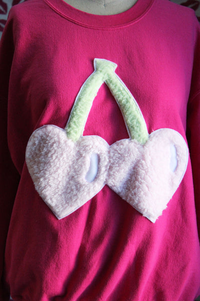 Fluffy Heart Cherries Limited Edition Sweatshirt - Sizes S-5X