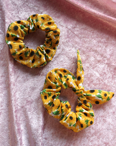 Sunflower Power Scrunchies