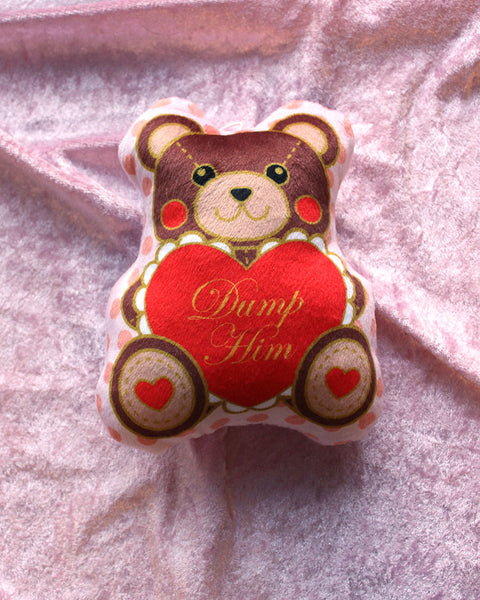 Red Dump Him Bear Plush Charm