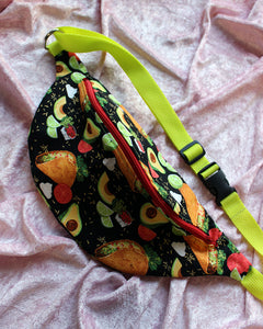 "Taco Tuesday Fanny Pack or Sling Bag - READY TO SHIP - 36""-48"""