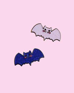 Sweet Baby Bat - Iridescent Glitter Hard Enamel Pin