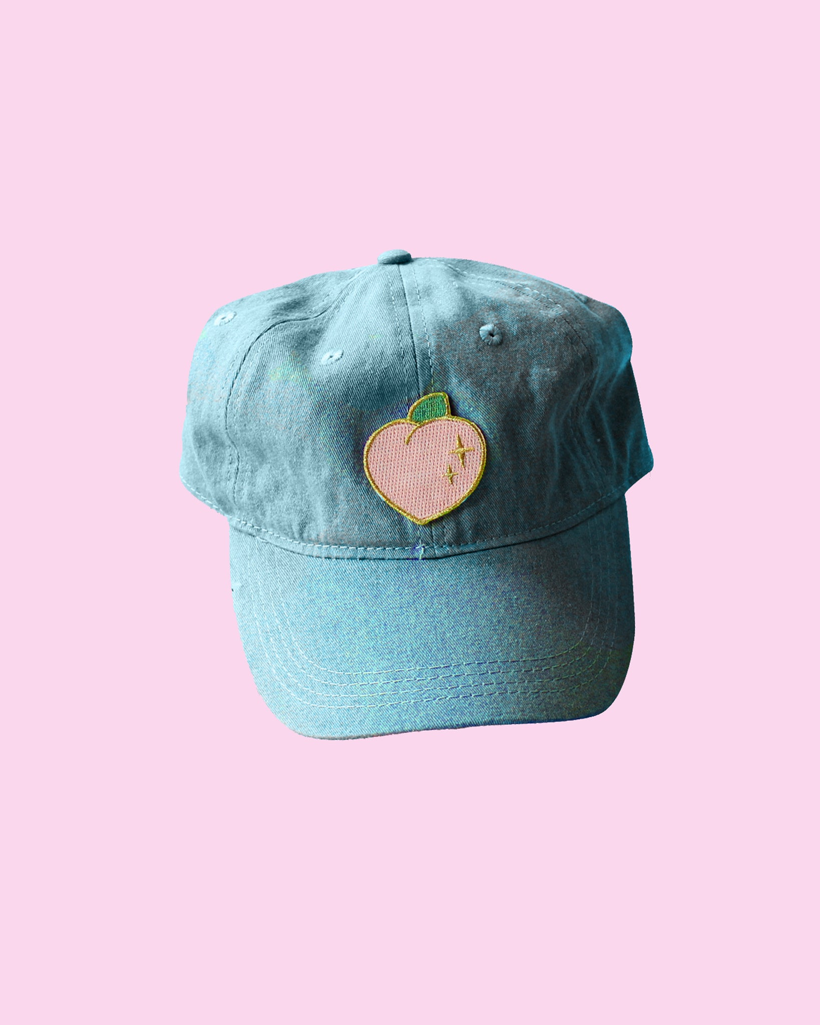 Sparkle Peach Patch Baseball Hat - Strapback LIMITED