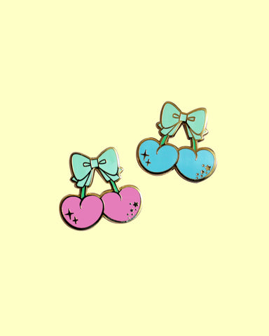 Kawaii Cherry Hard Enamel Pins