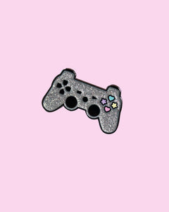 Kawaii Pastel Controller Magical Girl Gamer Video Game Glitter Hard Enamel Pin