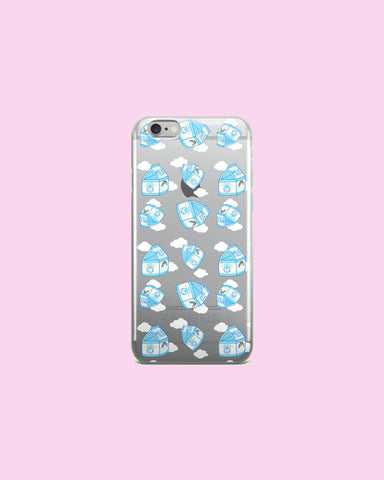 Milk Carton Tumble ft Creamu The Cow Clear Plastic Phone Case for iPhones