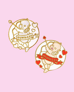 Stupid Cupid Valentine's Day Embroidered Iron-On Patch