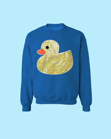 f39d1c1d8e074 Holographic or Fluffy Rubber Ducky Applique Sweatshirt - Oversized Sweater  Sizes S-5X Plus Size