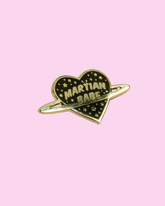 Martian Babe - Gold Hard Enamel Pin