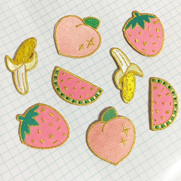 Confetti Fruit Patch - Watermelon Iron On Patch