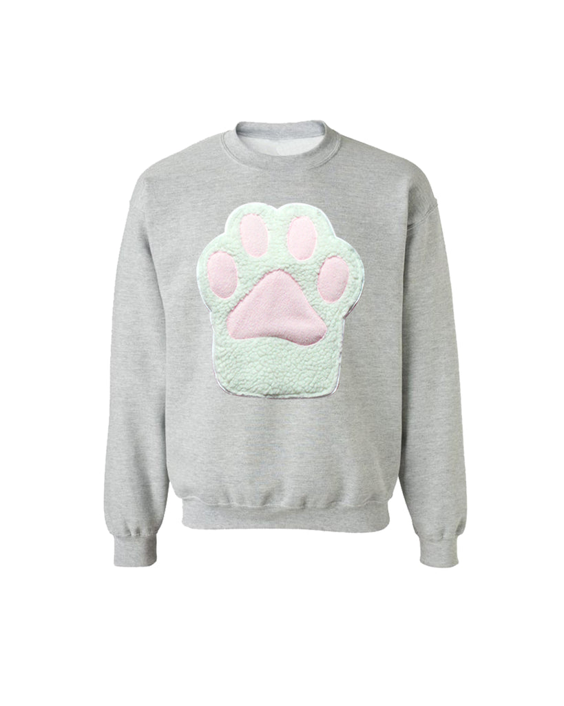 172816d6122ba ... Pastel Kitty Paw Kitten Toebeans Applique Sweatshirt - Holographic or  Fluffy Many Colors Sizes S- ...