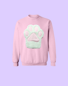 Pastel Kitty Paw Kitten Toebeans Applique Sweatshirt - Holographic or Fluffy Many Colors Sizes S-5X Plus Size Available Pastel Goth