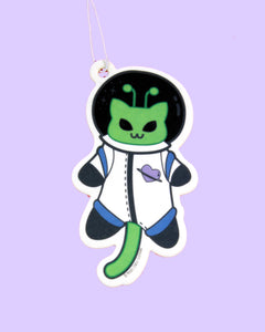 Martian Kitty Astronaut Green Apple Scented Air Freshener