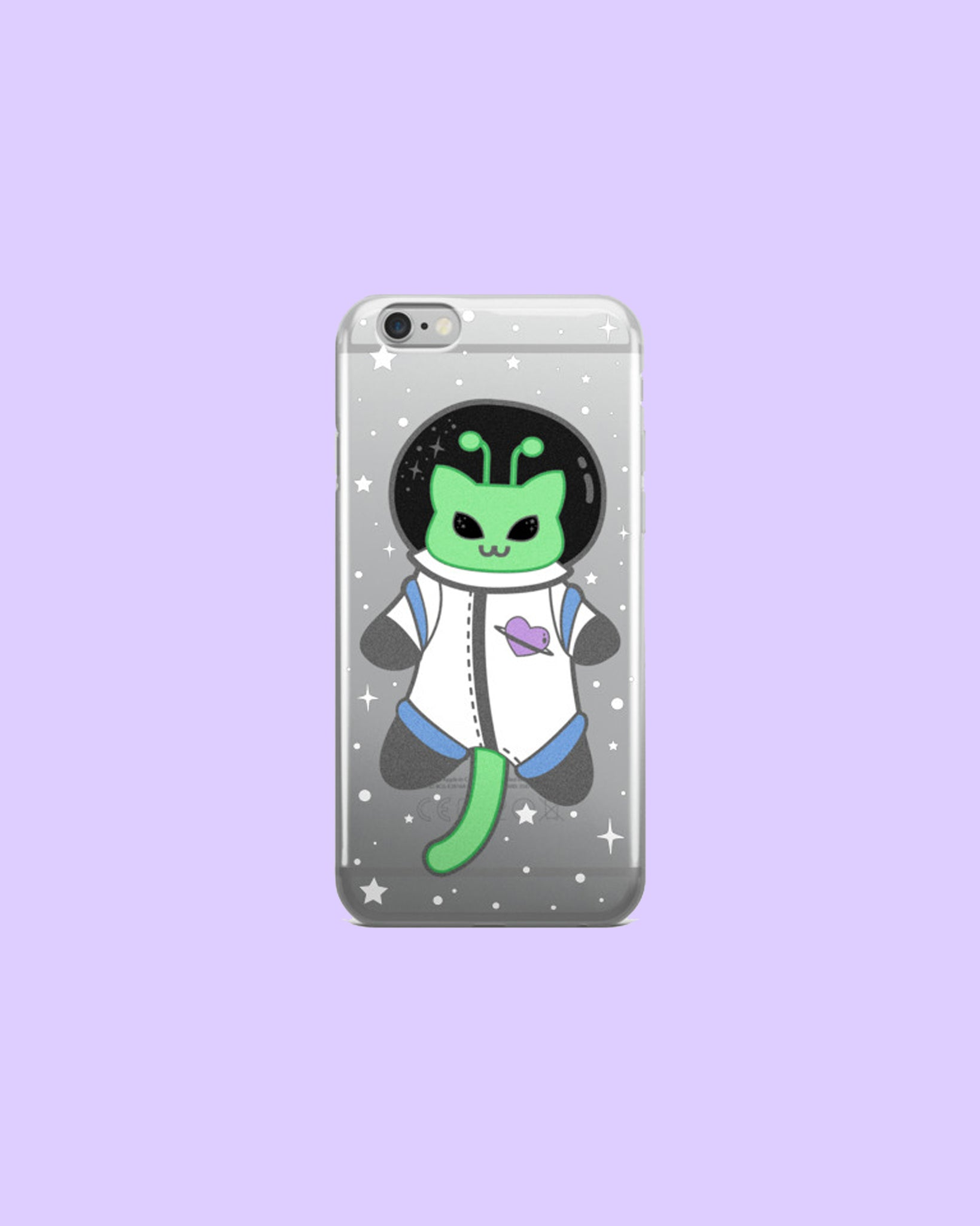 Martian Kitty From Space - Clear Plastic Phone Case for iPhones
