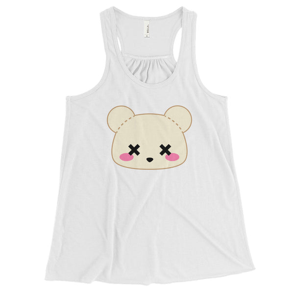 WOMEN'S FIT Deaddy Bear Pastel Goth Flowy Racerback Tank
