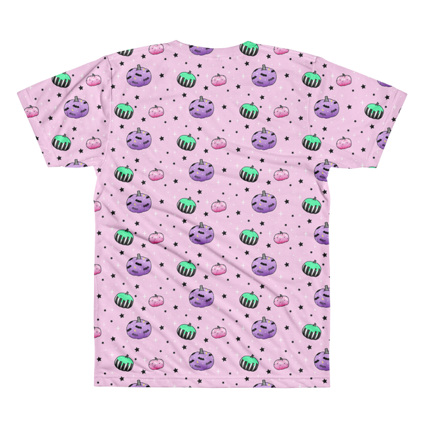 Spooky Pastel Goth Pumpkins All-Over Printed T-Shirt