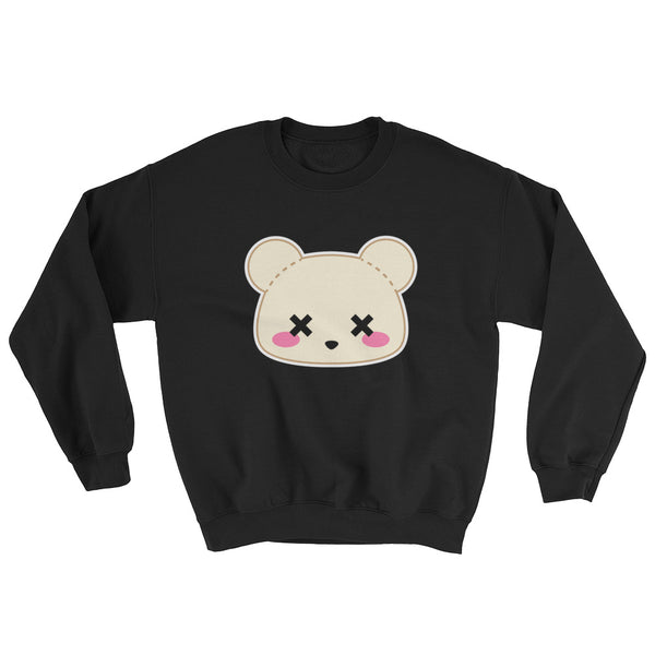 Deaddy Bear Printed Pastel Goth Sweatshirt
