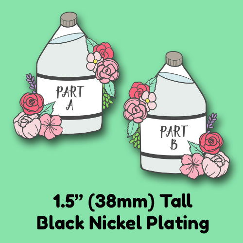 PREORDER Resin Enamel Pin Collection Gallon Jugs of Part A or Part B - BFF Friendship Pins or Collar Pins