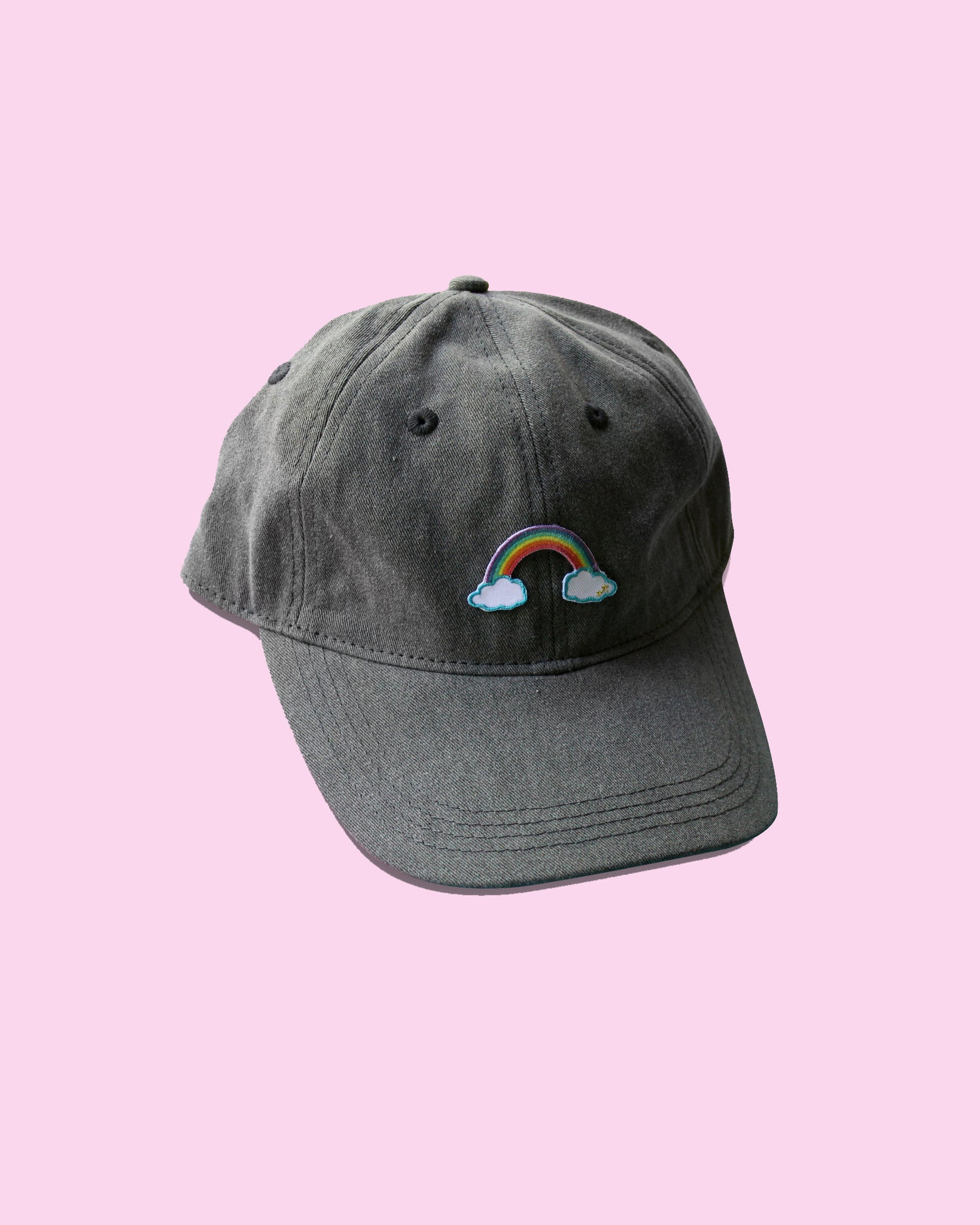 Magical Reverse Rainbow Patch Baseball Hat - Strapback LIMITED