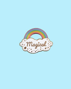 Magical Rainbow Enamel Pin - Hard Enamel Cloud Sparkles