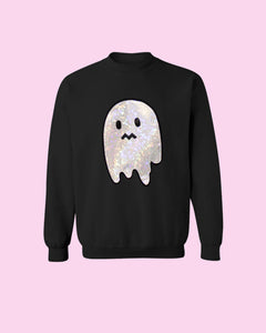 LIMITED RE-RELEASE Holographic Uneasy Ghost Spoopy Halloween Special Edition Oversized Sweatshirt
