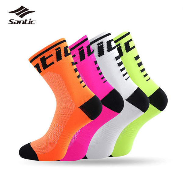 2017 Santic Men Women Cycling Sport Socks Breathable Outdoor Running Bike Basketball Soccer Socks Calcetines Chaussette Cyclisme