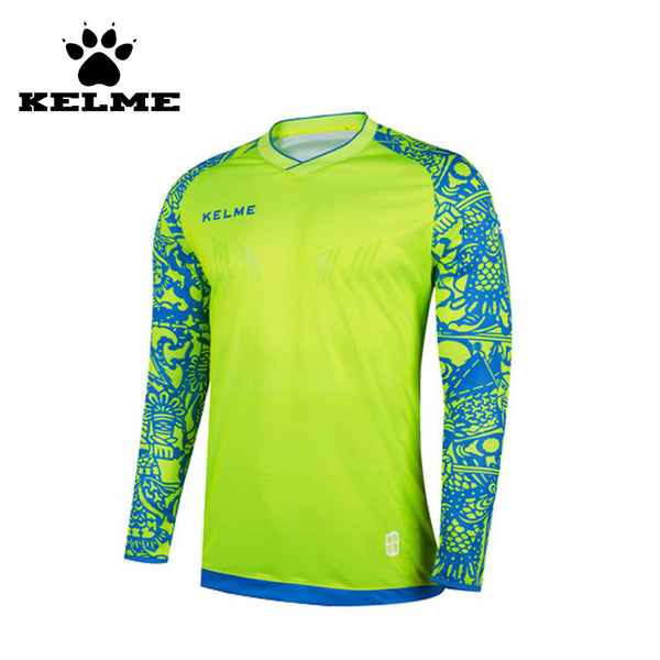KELME Tops Soccer Goalkeeper Clothing Men Soccer Jersey Kids Football Goalkeeper Training Doorkeepers Long Sleeve For Children28