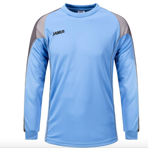 Men's Football Goalkeeper Clothes Long-sleeve Soccer Jerseys Breathable thick sponge Soccer Goalie Training Jerseys  men M-3XL