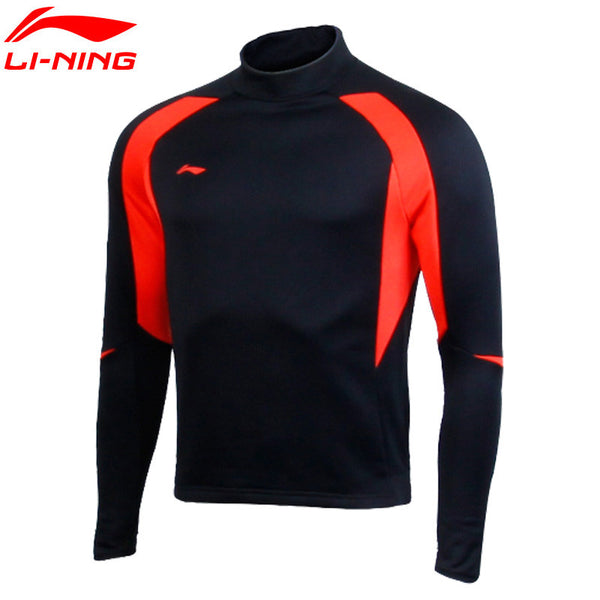 Li-Ning Original Soccer Training Jersey Sweater Long-Sleeved Pullover Soccer Sports Foot Ball Wear Windproof AWDKA97