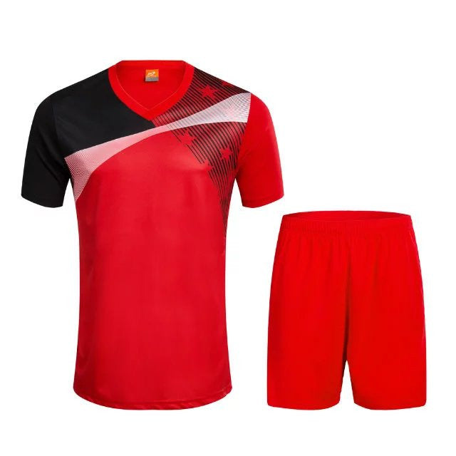 2017 Men's quick dry sport T-shirt adult soccer football bag breathable running striped Soccer Jersey