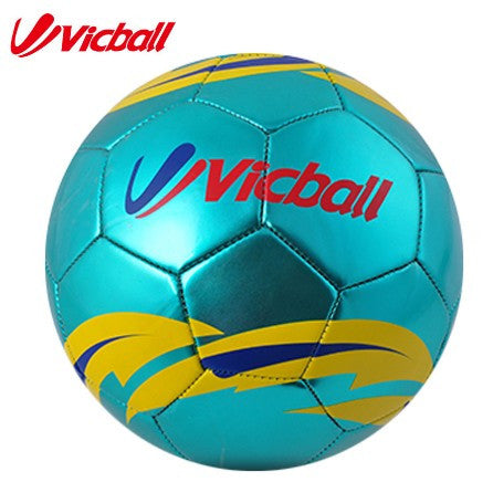 2016PVC Laser soccer ball size 5 men training balls blue color