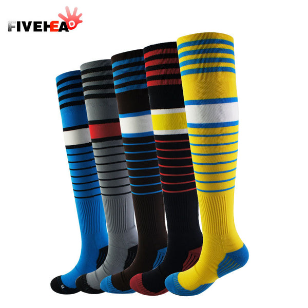 New 2016 Men's Soccer Socks Professional Clubs Country Thick Antiskid Socks Soccer Knee High Football Long Stocking Top Quality